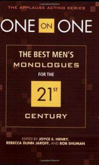 one-on-best-mens-monologues-for-21st-bob-shuman-paperback-cover-art